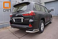 Защита заднего бампера Lexus LX (2015-) (уголки) d76/42