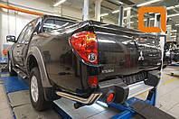 Защита заднего бампера Mitsubishi L200 (2014-2015) (уголки) d 76