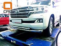 Защита переднего бампера Toyota Land Cruiser 200 (2015-)(кроме Executive) (двойная) d76/60