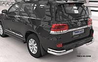 Защита заднего бампера Toyota Land Cruiser 200 (2007-2015 / 2015-) уголки (кроме Executive) d 76/42
