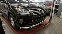 Защита переднего бампера Lexus LX570 (2014-2015) (одинарная) d 76
