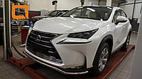 Защита переднего бампера Lexus NX 200 (2014-) (одинарная) d 42