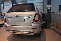 Защита заднего бампера Lifan X60 (2013-) (двойная) d 60/60*