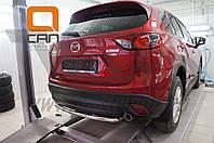Защита заднего бампера Mazda CX5 (2012-2015 /2015-) (одинарная) d 42