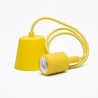 Светильник подвесной E27 жёлтый 1м