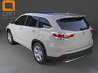 Защита заднего бампера Toyota Highlander (2014-) (одинарная) d 60