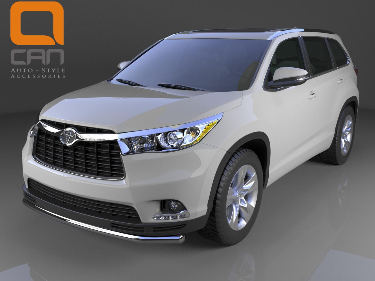 Защита переднего бампера Toyota Highlander (2014-) (одинарная) d 60