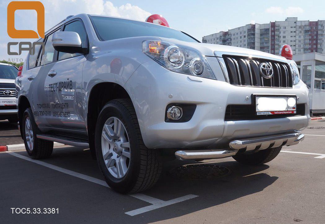 Защита переднего бампера Toyota Land Cruiser 150 (2009-2013) (Shark) d 70/70