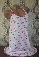 Сорочка женская из хлопка на бретельках. Размер 48-50, фото 1