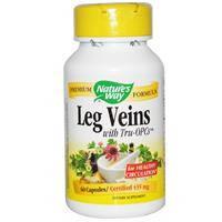 Leg Veins 60 капс натуральный венотоник, лечение варикоза геморроя, для питания защиты вен Nature's Way USA