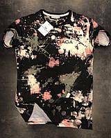 Мужская футболка Balenciaga  качественный принт - материал: 100% хлопок  S M L XL  Топ качество!