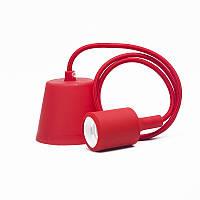 Светильник подвесной E27 красный 1м,, фото 1