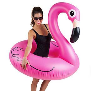 Надувной круг Big Mouth Розовый Фламинго 120 см., фото 2