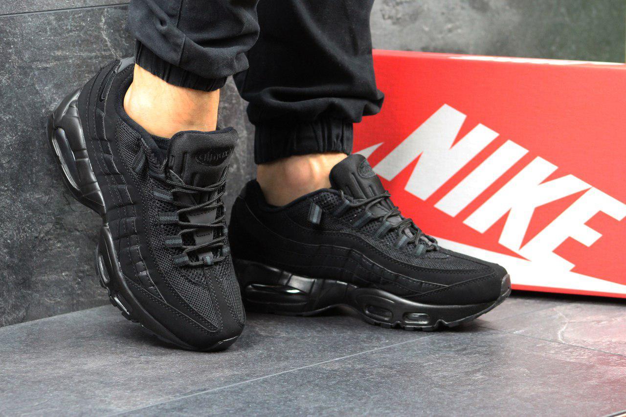 Мужские кроссовки Nike air max 95,черные