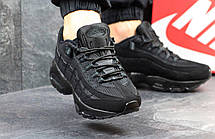 Мужские кроссовки Nike air max 95,черные, фото 3