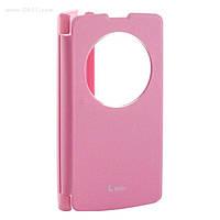 Чехол LG VOIA Window Flip Case для LG L80+ (L Bello/D335) pink