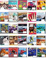 Тетрадь 48 листов клетка# 1 Вересня цветная обложка в ассортименте уп10