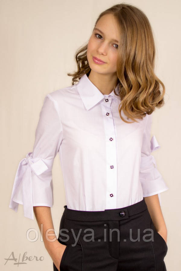 Блуза с бантами на рукавах, ТМ Albero 5047 Размеры 140- 158