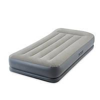 64116 надувне ліжко з вбудованим електронасосом (матрас) INTEX велюровий 191*99*30 см