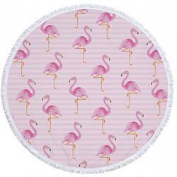Пляжный коврик розовый Tender Flamingo