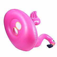 Надувной детский круг розовый фламинго с крыльями , фото 3