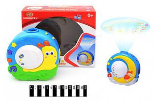 Детский Ночник-проектор «Улитка» 8664 музыка, свет