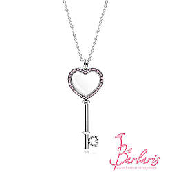 Серебряный медальон Ключ к сердцу копия Pandora