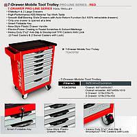 Тележка для инструмента (Pro-Line) 7 секций (красная) TCAC0702