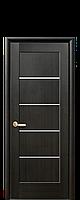Межкомнатная дверь  Мира ПВХ DeLuxe с матовым стеклом ,цвет венге new