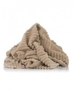 Плюшевая ткань Stripes бежевый (плот. 350 г/м.кв)