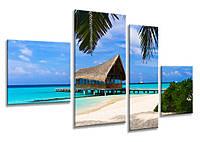 Печать фото на холсте с галерейной натяжкой на подрамник 25х90, фото 1
