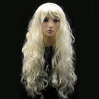 Парик мега-длинный 90см волнистые волосы, блонд, рыжий, черный