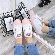 """Кроссовки, кеды, мокасины """"Converse"""" белые, текстиль, на ровном ходу повседневная, спортивная, удобная обувь, фото 2"""