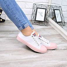 """Кроссовки, кеды, мокасины """"Converse"""" белые, текстиль, на ровном ходу повседневная, спортивная, удобная обувь, фото 3"""