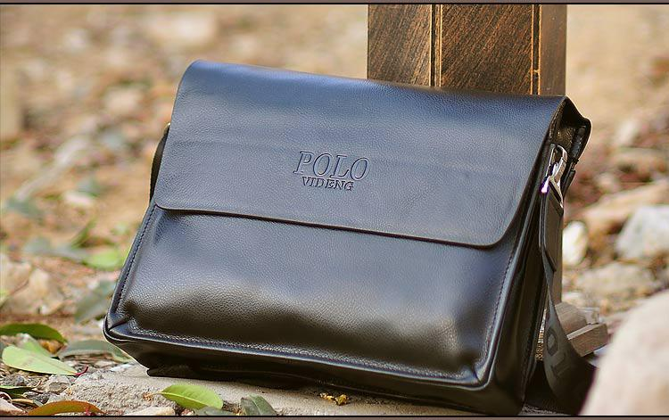 Большая мужская сумка через плечо Polo Vicun Черный
