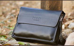 Велика чоловіча сумка через плече Polo Vicun Чорний