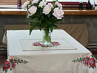 Скатерть вышитая с цветами, фото 1