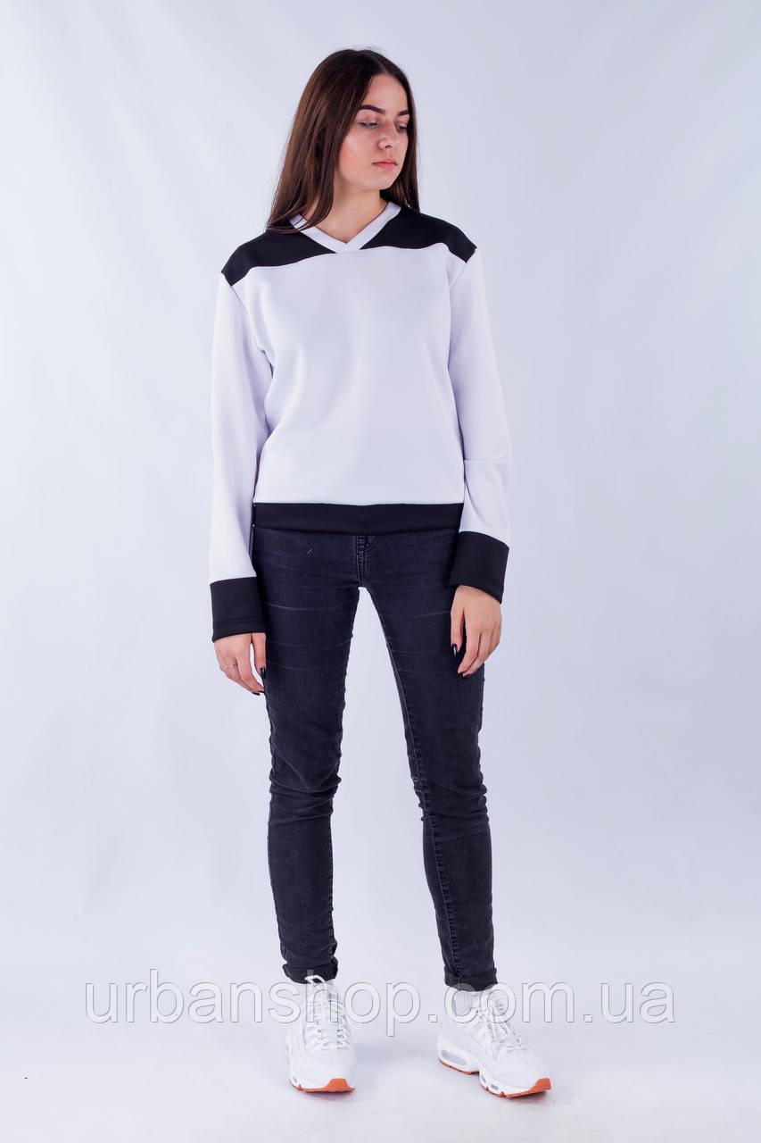 6c80c2d1d8db4 Свитшот женский белый бренд Tur модель Молодость - UrbanShop в Львове