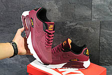 Мужские кроссовки Nike Air Max 1 Ultra Moire,бордовые, фото 3