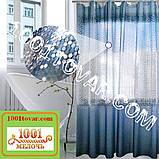 Силіконова шторка для ванної кімнати з 3D ефектом, розмір 180х180 див., кольорова, фото 3