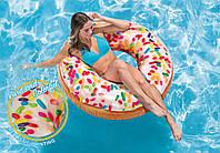 Надувной круг Пончик с присыпкой Intex 56263 (d-114 см)