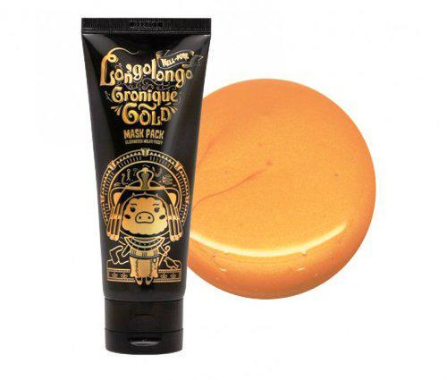Маска на основе пептидного комплекса и золота ELIZAVECCA Hell-Pore Longolongo Gronique Gold Mask Pack