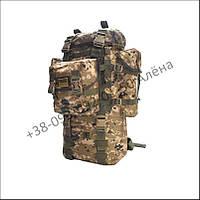 Туристический, тактический рюкзак армейский для военных, рыбалки 70 литров пиксель нейлон