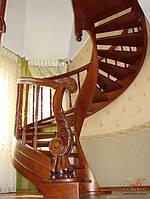 Лестницы винтовые, эксклюзивные лестницы, лестница с резными балясинами, дубовая лестница, винтовая лестница