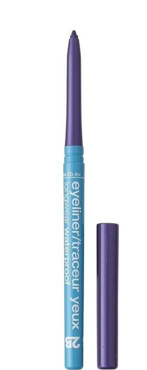 2B Карандаш для глаз автоматический водостойкий Eyeliner Longwear Waterproof 07 Violet, 0.35 г