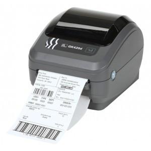 Настольный термопринтер печати этикеток Zebra gk 420 d