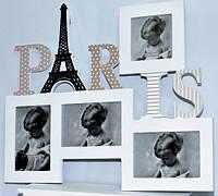Мультирамка Paris на 4 фотографии деревянная