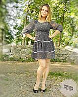 Легкое воздушное платье в мелкую точечку