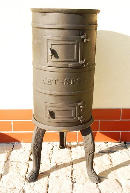 Печь буржуйка чугунная Карлик Met-Spos 6 кВт камин (піч буржуйка чавунна камін)