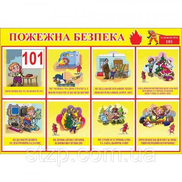 Стенд Пожежна безпека для дітей в дитячому садку